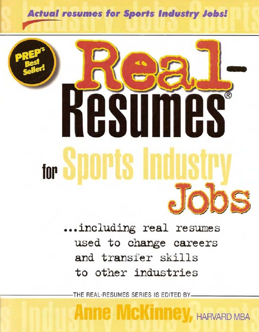 Real Resumes for Engineering Jobs by Anne McKinney